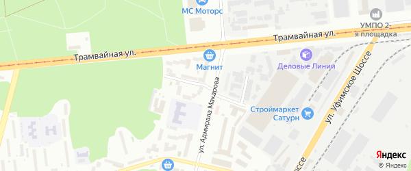 Улица Генерала Панфилова на карте Уфы с номерами домов