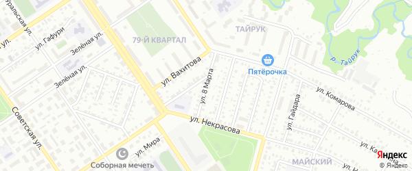 Улица 8 Марта на карте Ишимбая с номерами домов