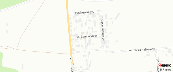 Улица Зелинского на карте Уфы с номерами домов