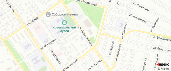 Улица Лермонтова на карте Ишимбая с номерами домов
