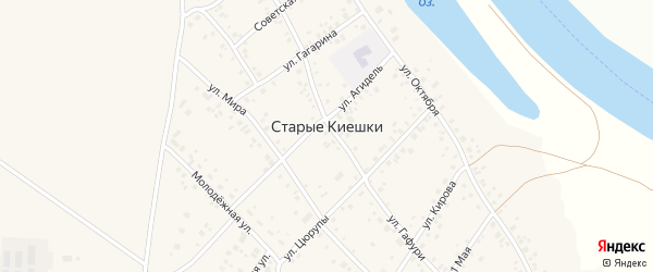 Улица Аксакова на карте деревни Старые Киешки с номерами домов