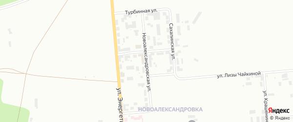 Новоалександровская улица на карте Уфы с номерами домов