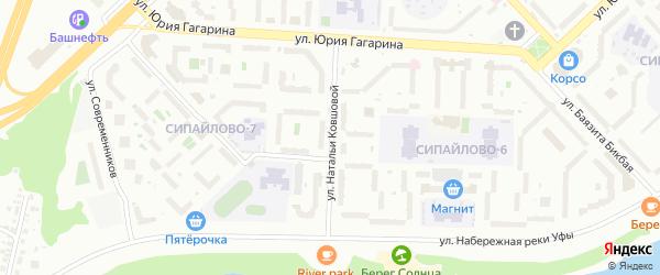 Улица Натальи Ковшовой на карте Уфы с номерами домов