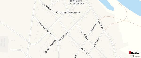 Улица Цюрупы на карте деревни Старые Киешки с номерами домов