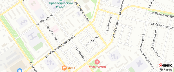Улица Суворова на карте Ишимбая с номерами домов