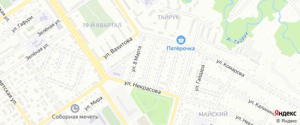Улица Мусы Джалиля на карте Ишимбая с номерами домов