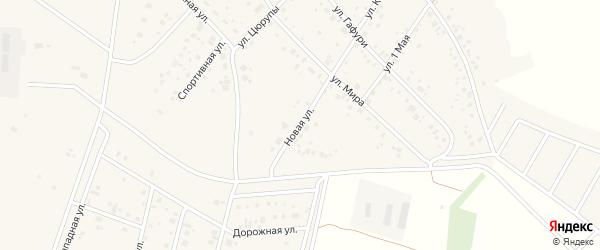 Новая улица на карте деревни Старые Киешки с номерами домов