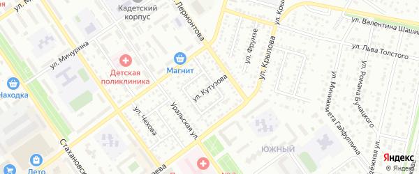 Улица Кутузова на карте Ишимбая с номерами домов