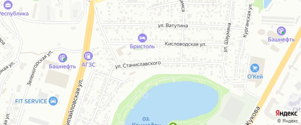 Улица Станиславского на карте Уфы с номерами домов