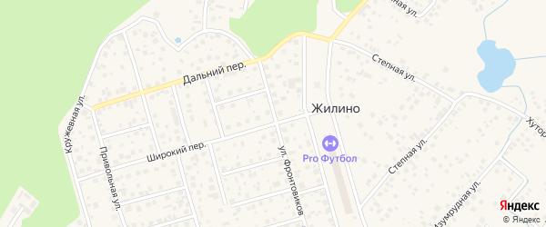 Улица Фронтовиков на карте деревни Жилино с номерами домов