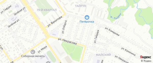 Улица Степана Разина на карте Ишимбая с номерами домов