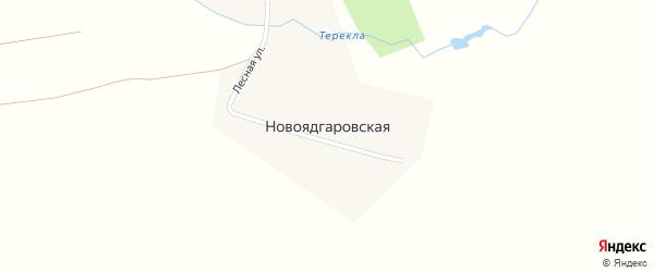 Лесная улица на карте Новоядгаровской деревни с номерами домов