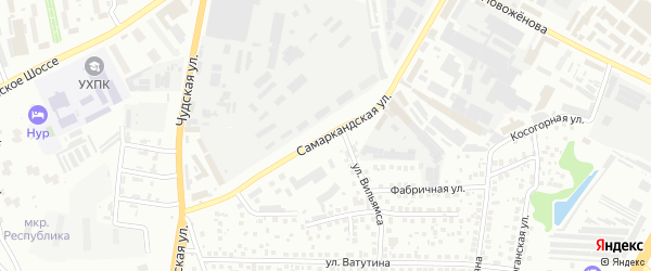 Самаркандская улица на карте Уфы с номерами домов
