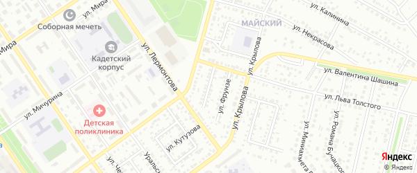Улица Луначарского на карте Ишимбая с номерами домов