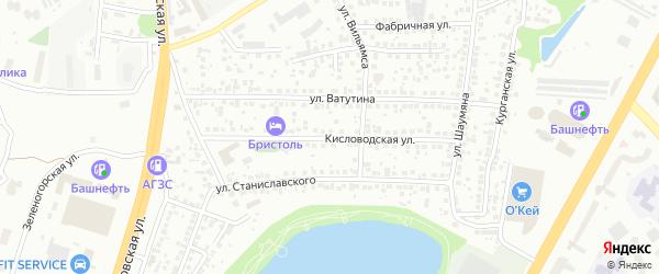 Кисловодская улица на карте Уфы с номерами домов