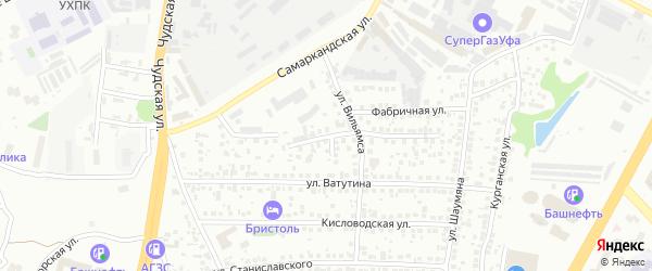 Череповецкий проезд на карте Уфы с номерами домов