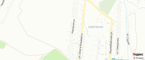 Народная улица на карте Ишимбая с номерами домов