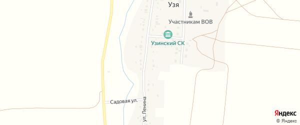 Улица Ленина на карте деревни Узя с номерами домов