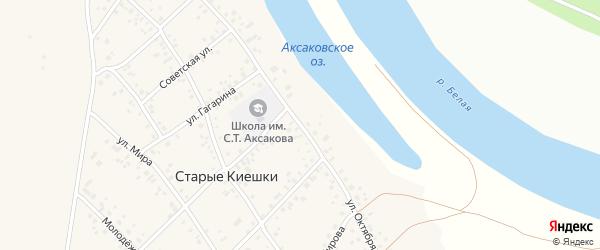 Улица Октября на карте деревни Старые Киешки с номерами домов
