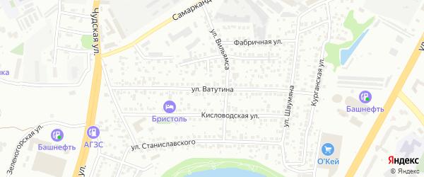 Улица Ватутина на карте Уфы с номерами домов