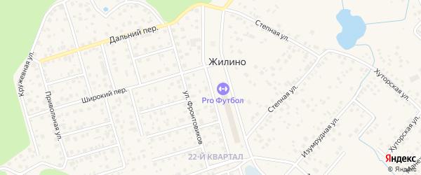 Генеральская улица на карте деревни Жилино с номерами домов
