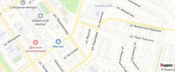 Улица Фрунзе на карте Ишимбая с номерами домов