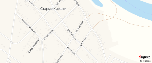 Улица Кирова на карте деревни Старые Киешки с номерами домов