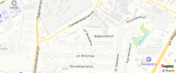 Фабричная улица на карте Уфы с номерами домов