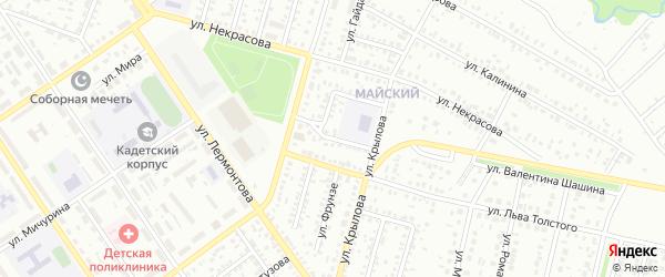Проезд Тимуровцев на карте Ишимбая с номерами домов
