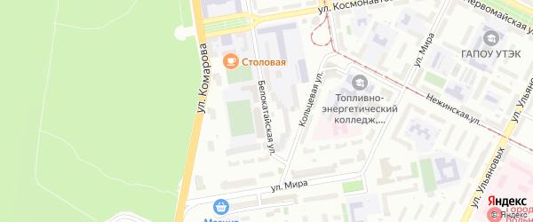 Белокатайская улица на карте Уфы с номерами домов
