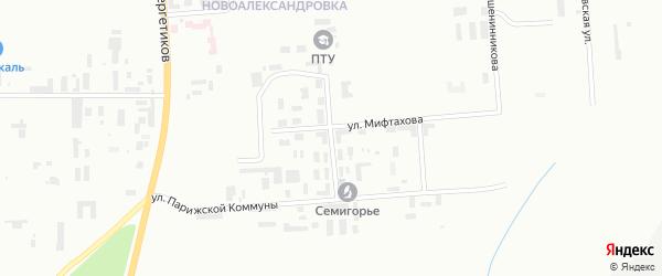 Улица Пржевальского на карте Уфы с номерами домов