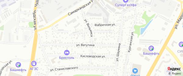 Улица Вильямса на карте Уфы с номерами домов