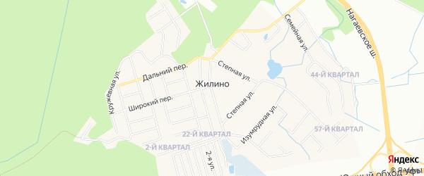 Карта деревни Жилино города Уфы в Башкортостане с улицами и номерами домов