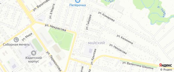 Улица Некрасова на карте Ишимбая с номерами домов