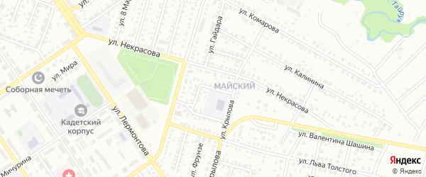 Проезд Котовского на карте Ишимбая с номерами домов