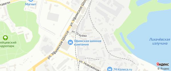 Улица Огарева на карте Уфы с номерами домов