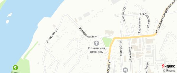 Кемеровская улица на карте Уфы с номерами домов