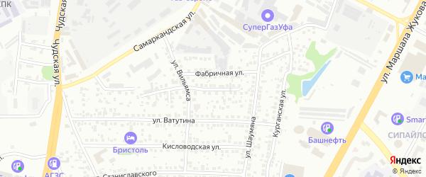 Череповецкая улица на карте Уфы с номерами домов