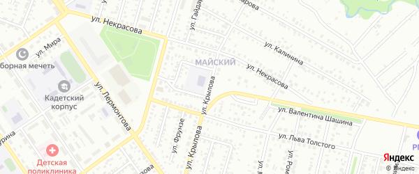 Улица Крылова на карте Ишимбая с номерами домов