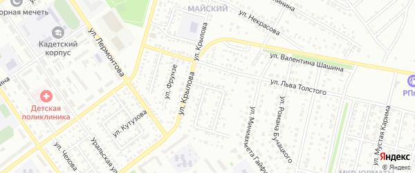Ленинградский проезд на карте Ишимбая с номерами домов
