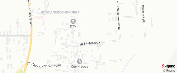 Уфимская 5-я улица на карте Уфы с номерами домов