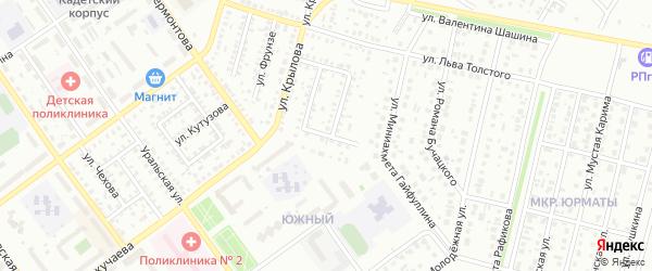 Московский проезд на карте Ишимбая с номерами домов