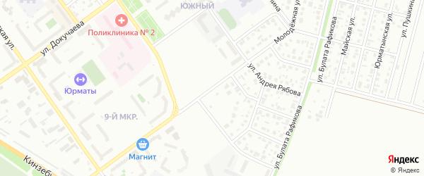 Молодежная улица на карте Ишимбая с номерами домов