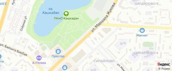 Улица Маршала Жукова на карте Уфы с номерами домов