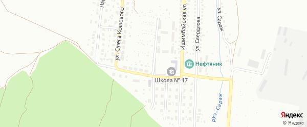 Улица Софьи Ковалевской на карте Ишимбая с номерами домов