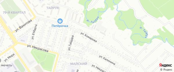 Улица Комарова на карте Ишимбая с номерами домов