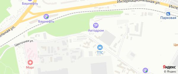 Цветочная улица на карте Уфы с номерами домов