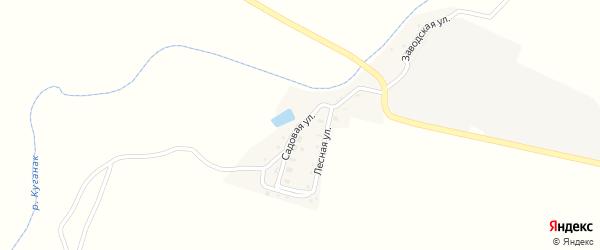 Садовая улица на карте села Большого Куганака с номерами домов