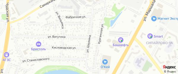 Улица Шаумяна на карте Уфы с номерами домов
