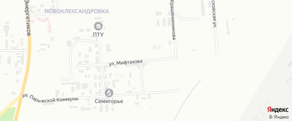 Улица Мифтахова на карте Уфы с номерами домов